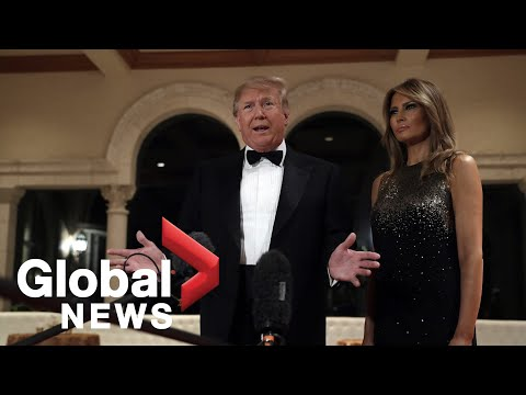 President, first lady offer New Year's wishes as Trump fields questions from reporters