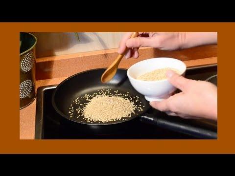 Cómo hacer Gomasio. Condimento Imprescindible!!