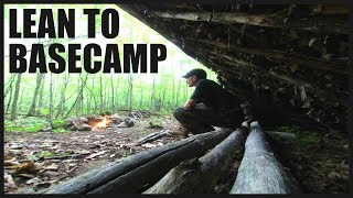 Wilderness LEAN TO BASE CAMP Shelter Additions: Stick Weave Debris Walls