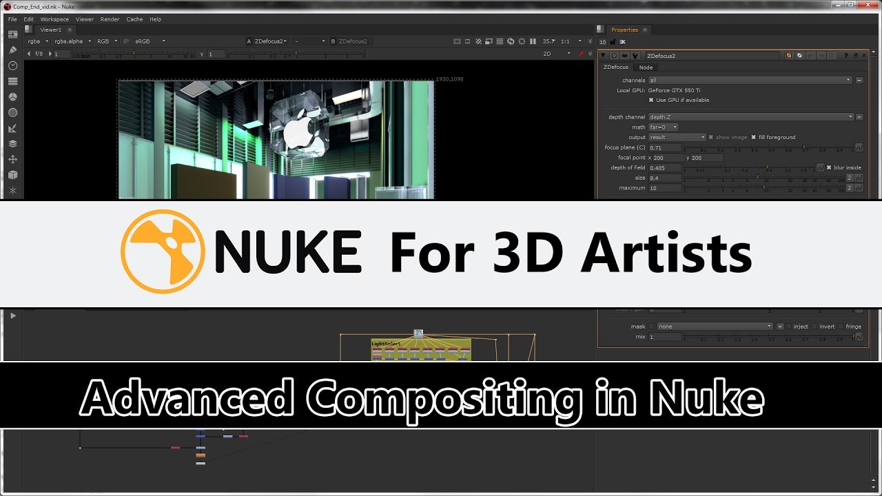 Nuke For 3D Artists - Advanced Multipass Compositing in Nuke