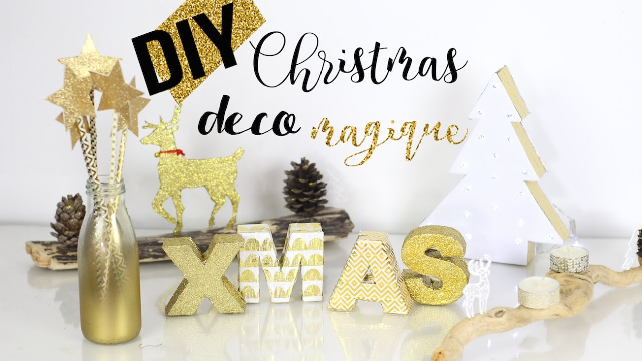 diy noel deco doree magique facile pas cher christmas. Black Bedroom Furniture Sets. Home Design Ideas