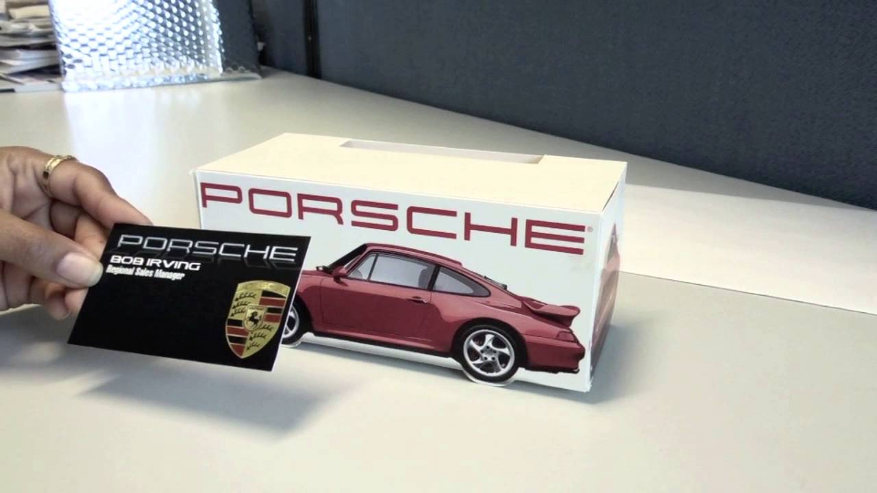 Porsche Pop-Up Business Card Holder - YouTube