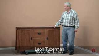 Barn Furniture - Mission Credenza With File Cabinet