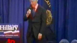 raw video bill clinton heckled