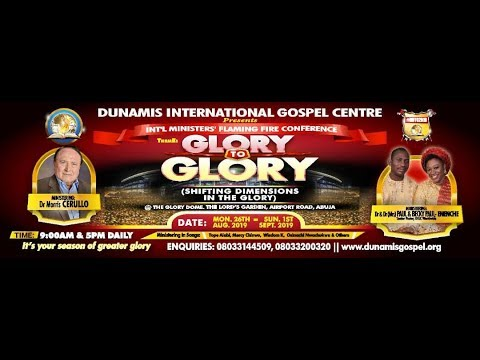 FROM THE GLORY DOME: AUGUST 2019 TESTIMONY AND THANKSGIVING SERVICE: 25.08.2019