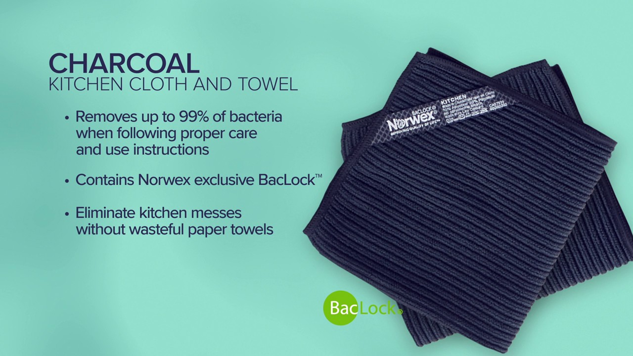 Norwex Color Story Charcoal Kitchen Set And Envirocloth