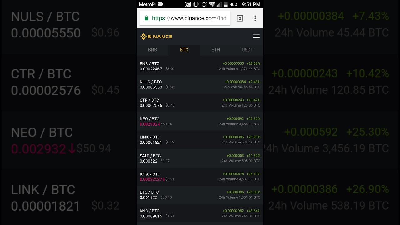 binance exchange bitcoin for ripple