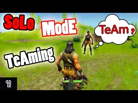 Teaming With STRANGERS In SOLO Mode Fortnite | Teaming In Solo Mode Fortnight - LB 😂