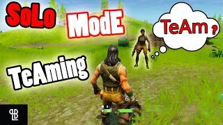 Teaming with STRANGERS in SOLO Mode fortnite | Teaming in Solo mode Fortnight - LB 😂 thumbnail