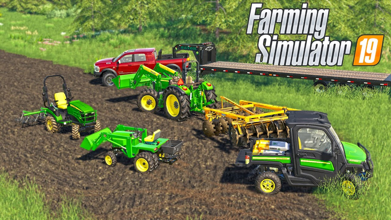 FALL FOOD PLOTS CULTIVATING AND SEEDING | (ROLEPLAY) FARMING SIMULATOR 2019 thumbnail