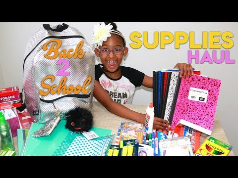 BACK TO SCHOOL SUPPLIES HAUL | KJ TAKEOVER