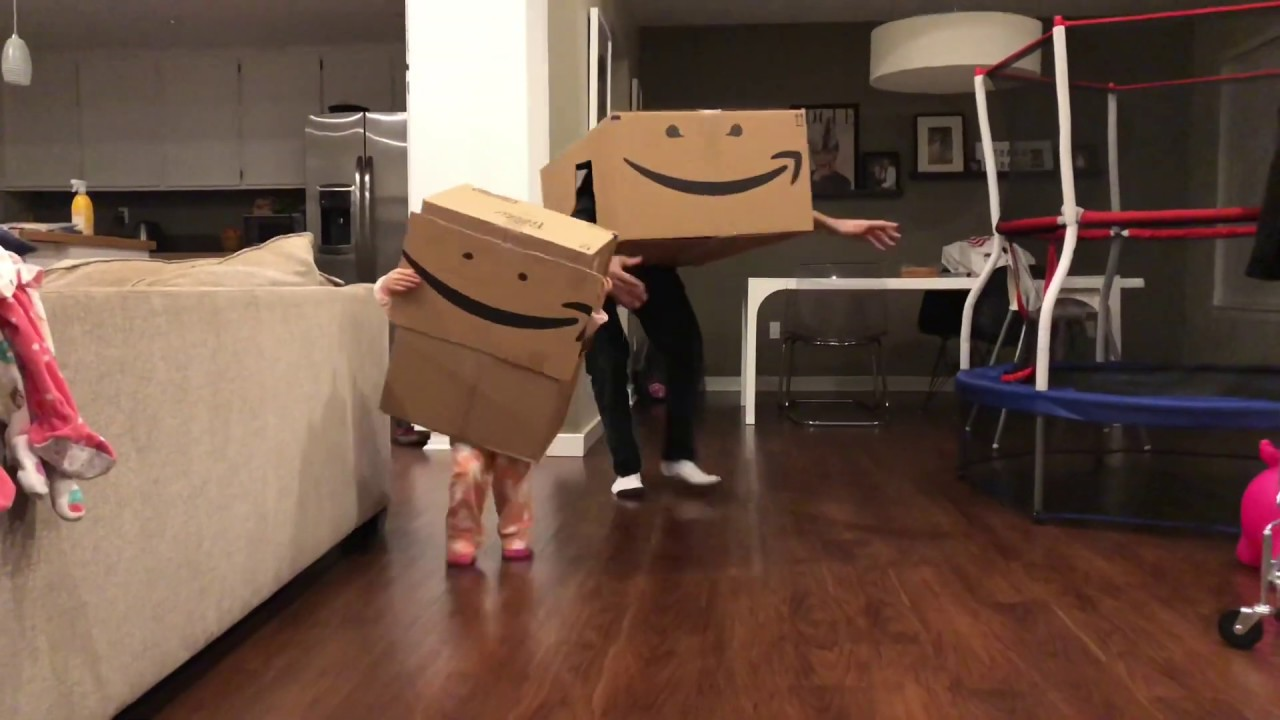I Smell Pennies Amazon Box Monster & Child - YouTube