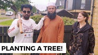 Planting A Tree In Glasgow | Following Sunnat | Rambo and Sahiba | Jan Rambo | Lifestyle With Sahiba