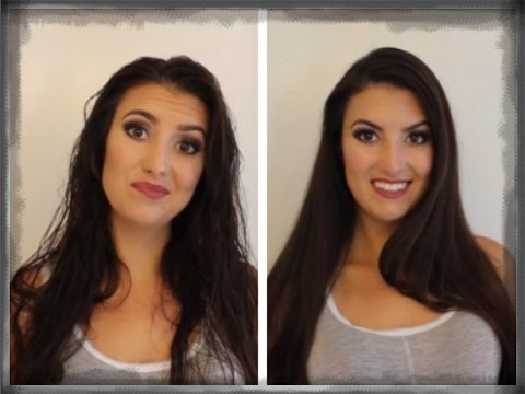 Silky smooth Blowout/Blowdry tutorial for frizzy wavy curly hair