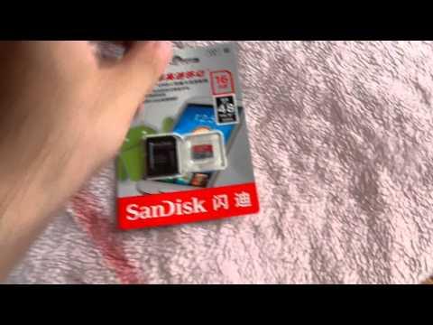 Посылка из Китая. карта памяти Sandisk 16GB ALiexpress Odessa SALE