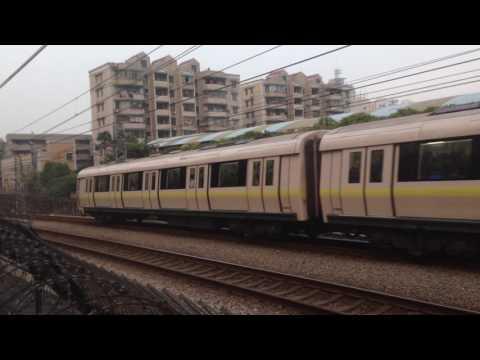 Metro train in Guangzhou, China