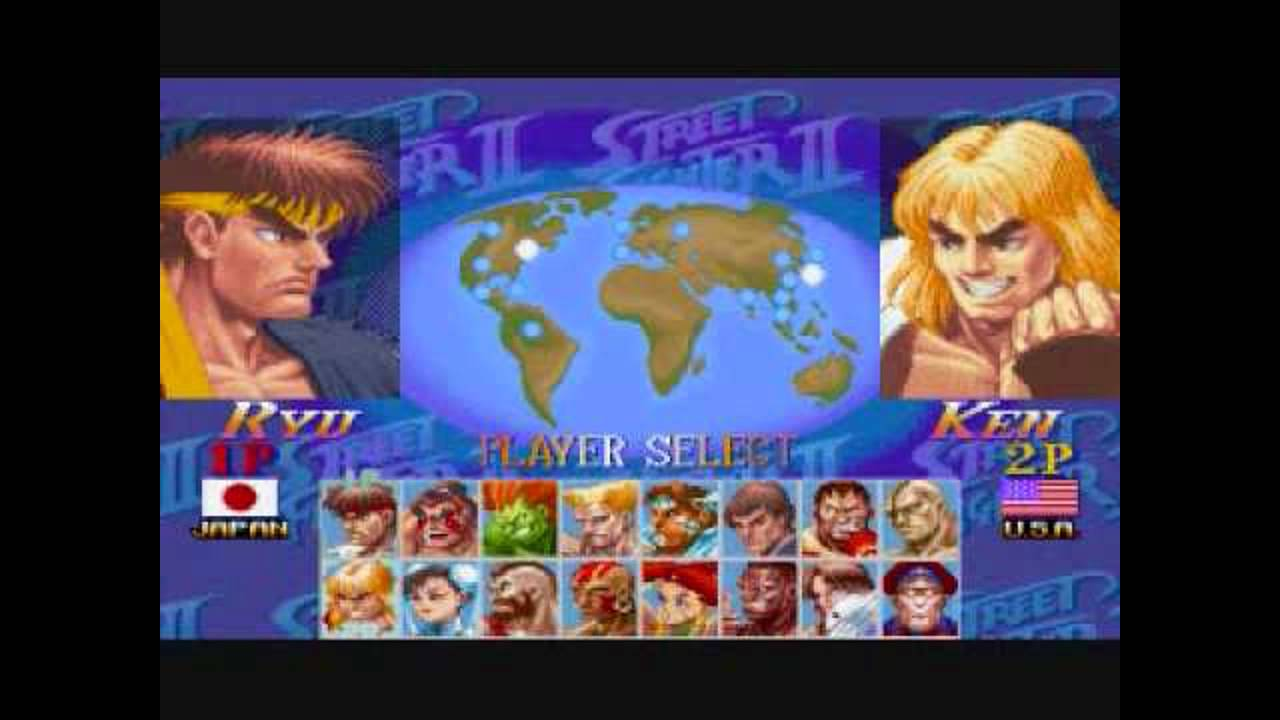 Hyper Street Fighter II - Player Select Theme - YouTube