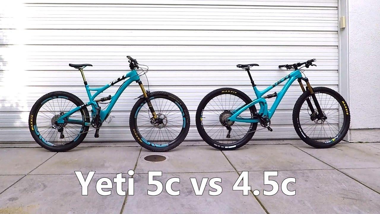 Yeti SB5c vs SB4 5c - Same but different