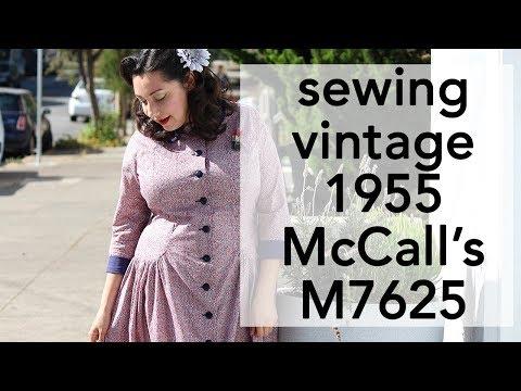 Sewing Vintage 1950s McCall's 7625 | Vintage on Tap