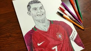 Cristiano Ronaldo Drawing - Portugal
