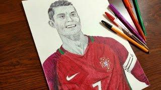 Cristiano Ronaldo Drawing - Portugal