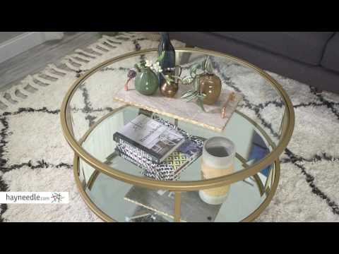 Belham Living Lamont Round Coffee Table - Gold - Product Review Video
