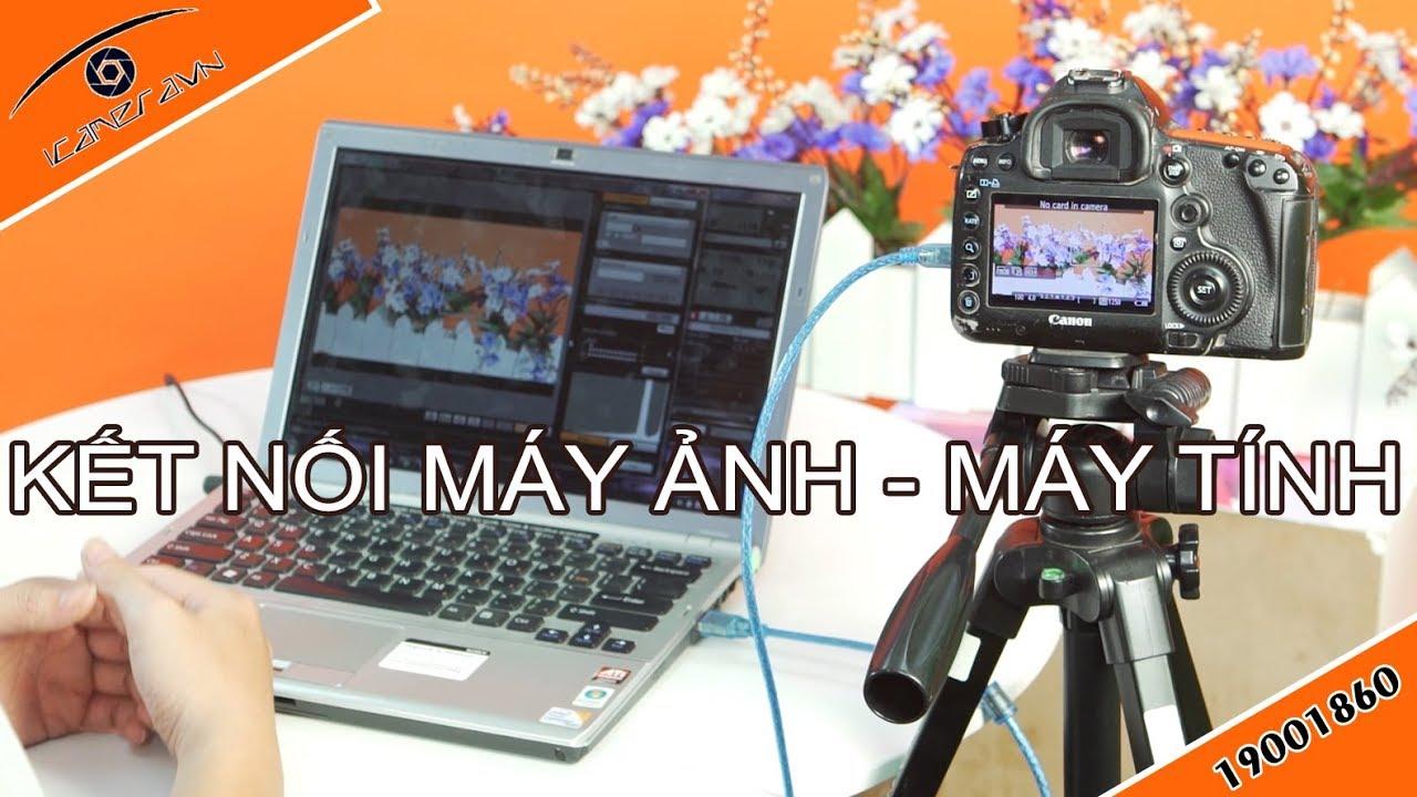 Làm thế nào để kết nối hình ảnh giữa máy ảnh và máy tính – cáp CCB-01