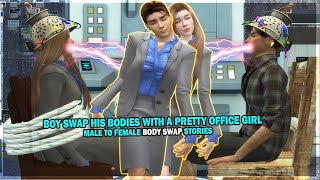 Boy Body Swap With A Pretty Office Girl 👩💼   Sims4Stories