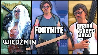 Fortnite, GTA & The Witcher in REAL LIFE!