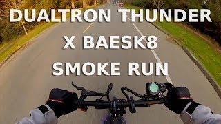 Dualtron Thunder X Baesk8 Smoke Run | First Person POV | Electric Scooter Group Ride