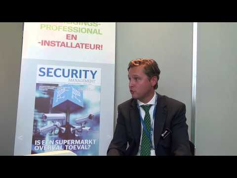 Erik Mastenbroek, Sales & Marketing Manager van iLoq op SSA 2013- Amsterdam