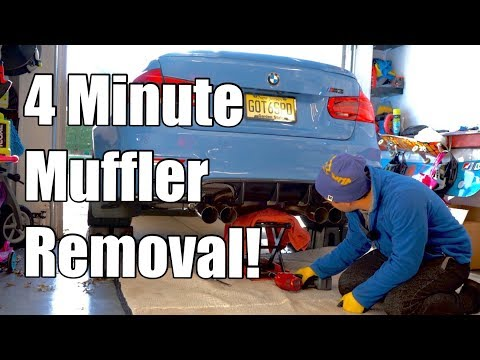 V82: DIY Dinan Muffler install on an F80 BMW M3 with Active Autowerke Midpipe (F82 M4)