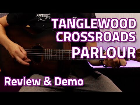 Tanglewood TWCR P Crossroads Parlour Acoustic – Review & Demo – A great travel guitar!
