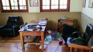 Los destrozos en la rectoría del Liceo de Aplicación