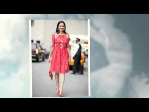 С чем носить кружевное платье
