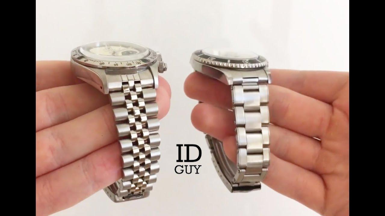 e95da8387b4 Rolex Oyster Vs Jubilee Bracelet    Comparative Review - YouTube
