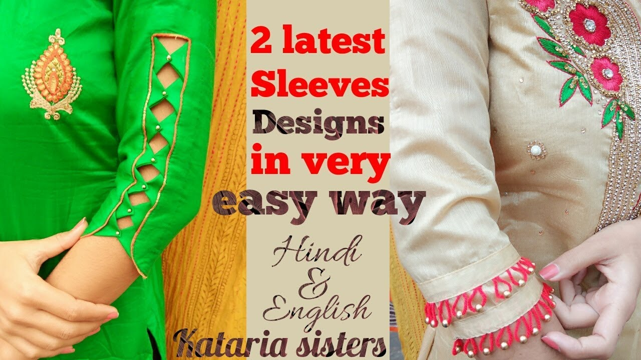 Image result for 2 Beautiful sleeves designs in very easy way