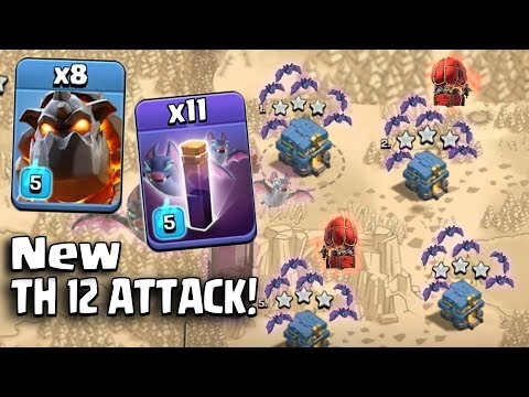8 Lava + 11 New Bat Spell + New Stone Slammer :: NEW TH12 WAR 3 STAR ATTACK STRATEGY 2018 (Updated)
