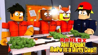 ROBLOX - JAIL BREAK - ROPO IS A DIRTY COP!!