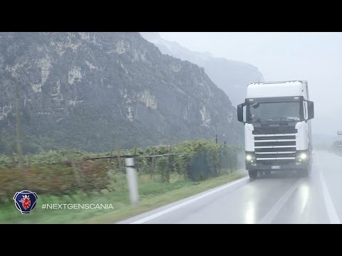 Field testing the new Scania in Italy