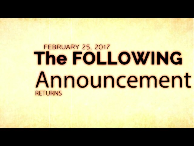 The Following Announcement - Season 2 Teaser