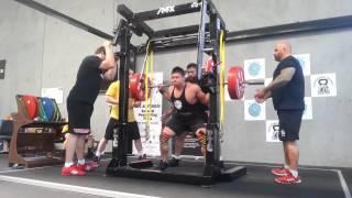 Martin Nguyen squats 225kg x 3 PTC