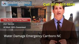 Water Damage Emergency Carrboro NC (919) 251-6644