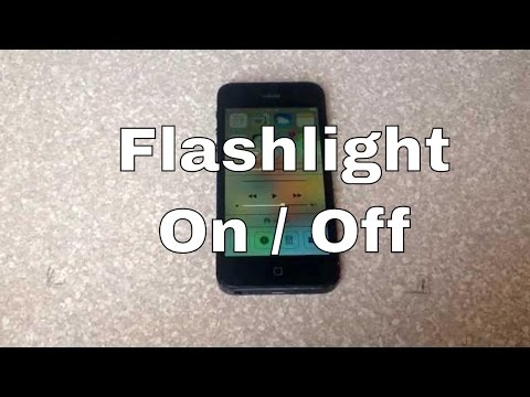 How To Turn Off Flashlight On Iphone >> How To Turn The Led Light Flashlight On And Off Iphone 4s 5 5c