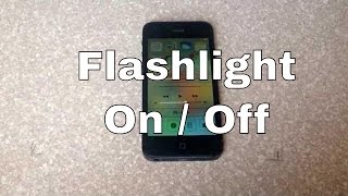 How Turn Led Light Flashlight And Iphone 4s 5c 5s