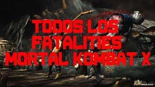 Mortal Kombat X - Todos los Fatalities (Movimientos MKX)