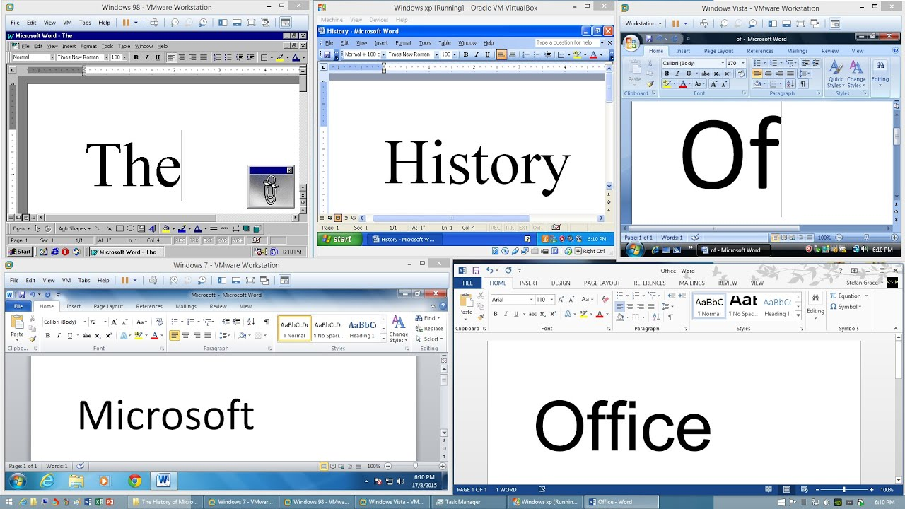 the history of microsoft office youtube