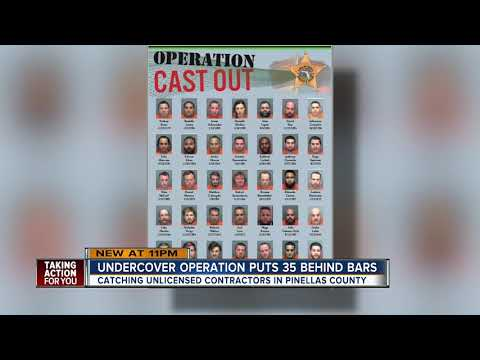 35 unlicensed contractors arrested in undercover sting operation in Pinellas County
