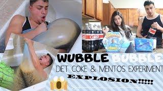 WUBBLE BUBBLE DIET COKE MENTOS EXPERIMENT!! *EXPLOSION*