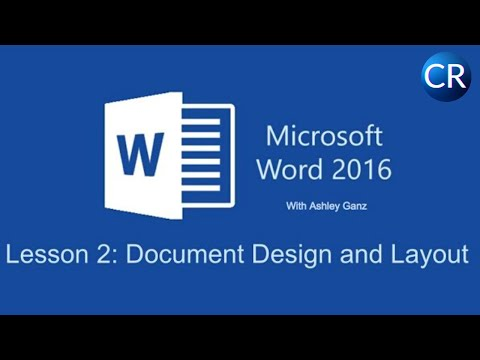 word document layout design